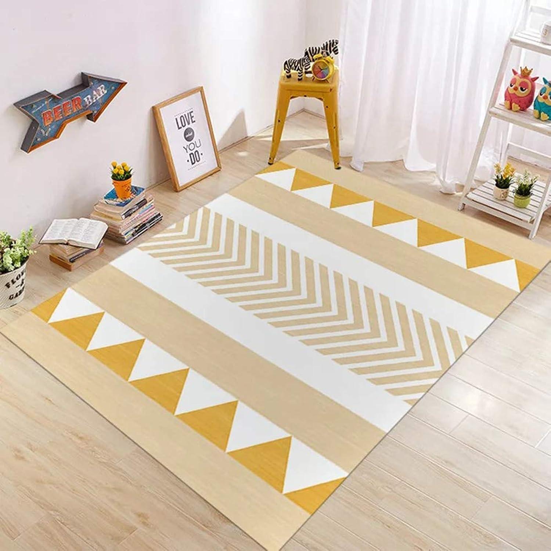 Insun Teppich Moderner Geometrische Formen Kurzflor Teppich Anti Rutsch Abwaschbarer Stil 2 140x200cm
