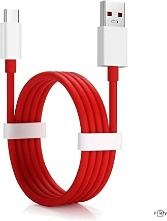 Priefy Fast Data Sync Fast Charging Cable Compatible for One Plus and All C Type Devices (Cable Only)