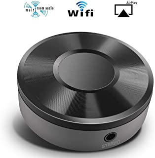 NBSXR WiFi Wireless Music Adapter, Airplay Adapter Audio Receiver, Stream Audio to Speaker Systems Over Wi-Fi Network from Mobile Devices NAS Windows