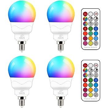 Multi Couleur Changeante DEL Bougie Ampoule E14 RGB Vis en contrôle à distance Bon état
