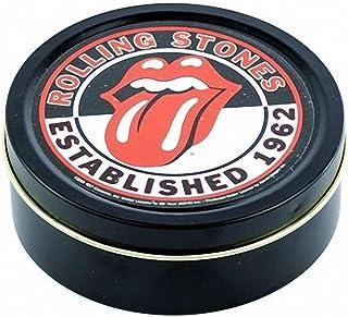 Rolling Stones Caja Redonda Metalica Logo