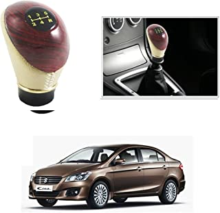 AutoStark Beige and Wood Gear Knob/Gear Shift Knob For Maruti Suzuki Ciaz