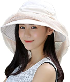 ITODA Women Foldable 360 Head Net Removable Mesh Sun Hat, UPF 50+ Wide Brim Adjustable Breathable Beekeeper Mask, Anti-UV Protective Portable Summer Veil Cap