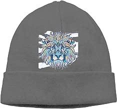 Oopp Jfhg Lion Colorful Beanies Hat Skull Caps Men Deep Heather