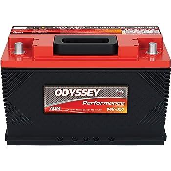 Odyssey Battery 94R-850 Performance Automotive Battery Group 94R 1500 PHCA 850 CCA 1000 MCA RC Min. 150 L-12.36 in. W-6.85 in. H-7.47 in. w/SAE Terminals Performance Automotive Battery