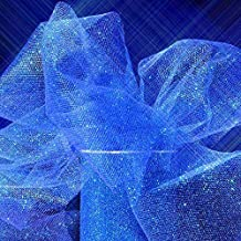 Sparkle Tulle Ribbon Rolls - 25 Yards - 6 Inches Wide (Sparkling - Royal Blue)