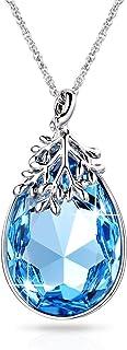 Alantyer Women March Birthstone Jewelry Waterdrop Pendant...