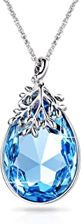 """Alantyer Pendant Necklace Anniversary Birthday Gifts for Women Birthstone Jewelry Made with Swarovski Crystals, 18""""+2"""" Extender"""