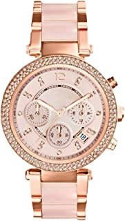 Hexiaoyi Women's Rose Gold Crystal Watch Stainless Steel Waterproof Quartz Business Watch For Female (Color : Gold)