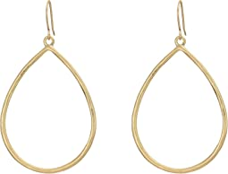 Open Teardrop Hoop Earrings