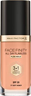 Max Factor FaceFinity All Day Flawless 3 In 1 Foundation , Soft Honey 77
