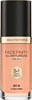 Max Factor Facefinity 3-In-1 Foundation Soft Honey 77, 30 ml