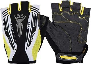 HAOSHUAI Handschoenen Outdoor Riding Halve Vinger Mannen En Vrouwen Zonnebrandcrème Ademende Antislip Sporthandschoenen Ridding handschoenen (Kleur : Blauw, Maat : M)