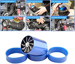 Supercharger Power Air Intake Turbonator Dual Fan Turbine Gas Fuel Saver Turbo