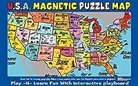Ata-Boy Magnetic USA Map Play-n-Learn Puzzle Board [並行輸入品]