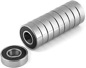 10 Stück Kugellager, Durable Multi-Use-Gummi Sealed Rillenkugellager 6001-2RS (12x28x8mm)