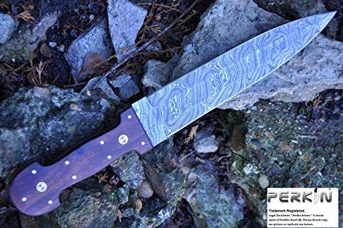 Perkin feststehende Messer mit Scheide damastmesser jagdmesser