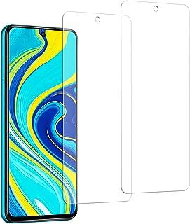 【2枚セット】For Xiaomi Redmi Note 9s/Poco X3 NFC 用 ガラスフィルム 強化ガラス 旭硝子製 FOR POCO X3 NFC フィルム 硬度9H 飛散防止 指紋防止 自動吸着 気泡防止 液晶保護フィルム