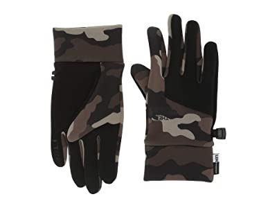 The North Face Kids Etiptm Gloves (Big Kids) (Burnt Olive Green Woods Camo Print) Extreme Cold Weather Gloves