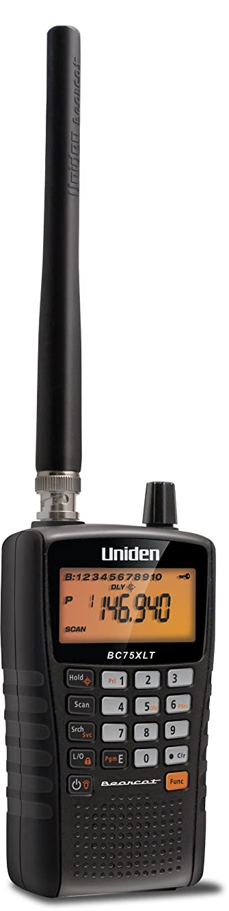 Uniden BC75XLT, 300-Channel Handheld Scanner, Public Safety, Police, Fire, Emergency, Marine, Auto Racing, Civil Air, Ham Radio, Railroad, CB Radio, NOAA Weather, and More. Compact Design.