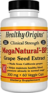 Healthy Origins Mega Natural BP-Grape Seed Extract Multi Vitamins, 300 Mg, 60 Count