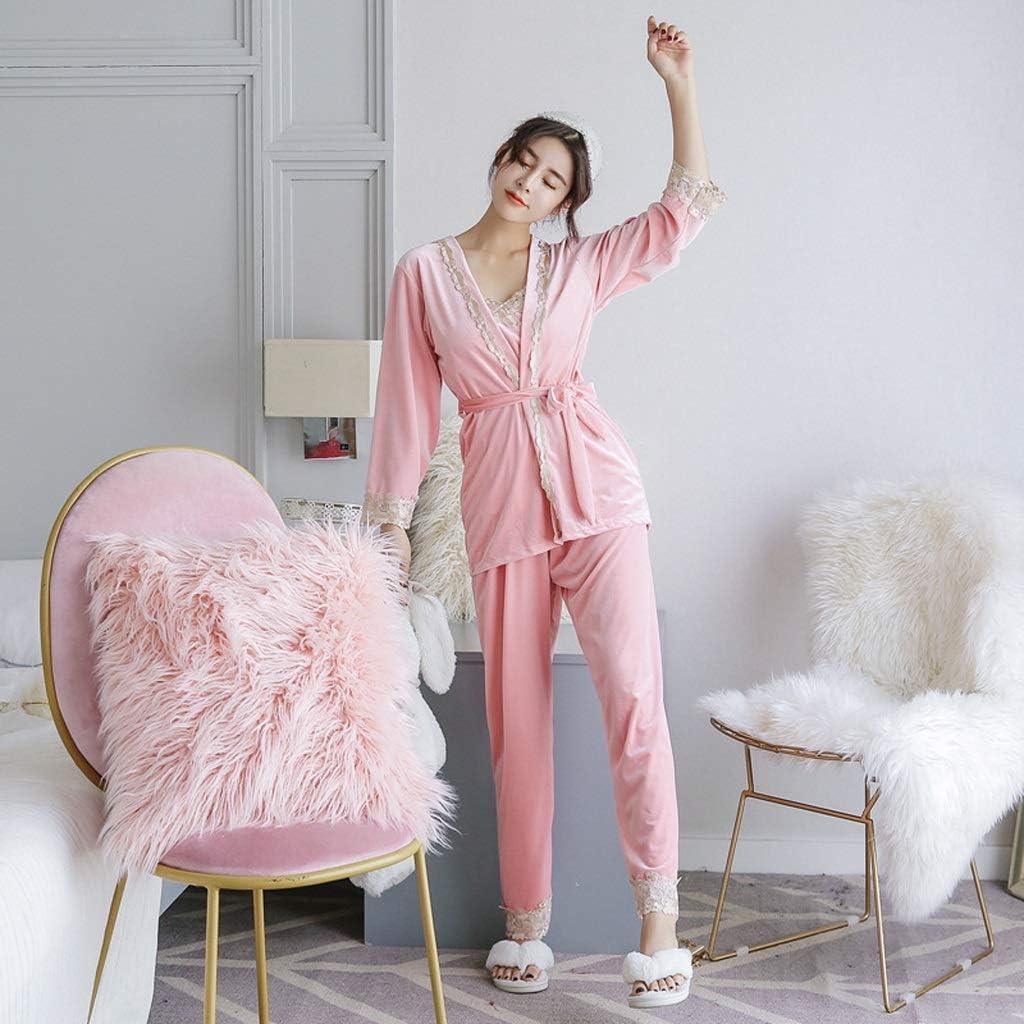 JJSPP Sexy Women Velour Pajamas Set Complete Free Shipping Sale special price Strap Sleepwe Pants Top Lady