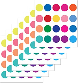 PARLAIM Rainbow Multi Size Polka Dot Wall Decals for Kids Boys Girls Baby Nursery Room, Peel and Stick Wall Stickers for Bedroom, Living Room, Multicolor (2 inch x 140 Circles)