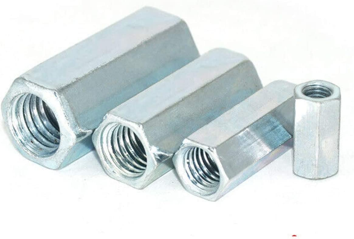M6-M20 Rod Coupling Spring new work one after another Long Oklahoma City Mall Hex Nuts Carbon Hexag Steel Plated Zinc