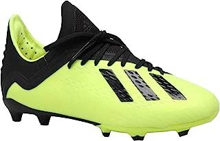 adidas Kid's X 18.1 FG Soccer Cleat, 5.0 D(M) US, Solar Yellow/Core Black/Cloud White