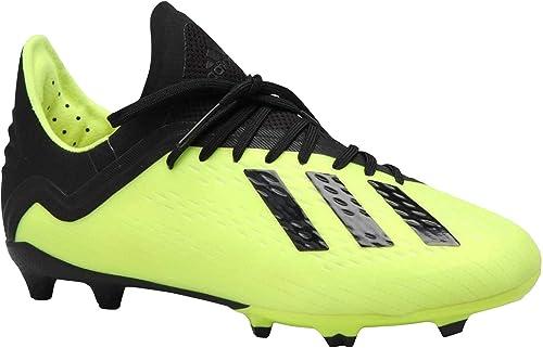 adidas Kid& 039;s X 18.1 FG Soccer Cleat, 3.0 D(M) US, Solar Gelb Core schwarz Cloud Weiß