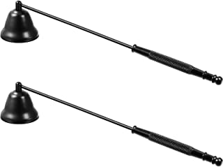 2 Pieces Candle Snuffer Candlesnuffers Wick Snuffer Stainless Steel Candle Extinguisher Candle Accessory with Long Handle ...