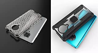 Xiaomi Poco F2 Pro iron man clear Cover + 1 Iron Man Predator Ring Cover