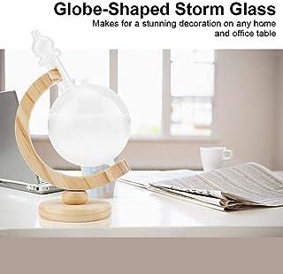 ストームグラス、クリエイティブグローブ型ストームグラスボトルデスクトップウェザーステーションウェザーオフィスプレディクターウェザーフォーキャストプレディクター