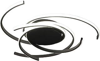 Lámpara de Techo LED Regulable 3 Anillos, Lámpara de Techo de Línea de Diseño Moderno, Lámpara de Techo LED de 57W 4845LM Luz Ideal para Comedor, Cocina, Estudio, luz de Dormitorio (negro)