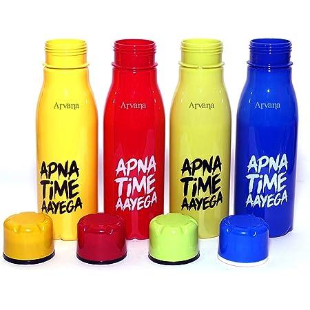 Arvana Return Gifts for Kids Birthday Party Apna Time Aayega Water Bottle for Gift for Girls/Boys for Children (Pack of 12)
