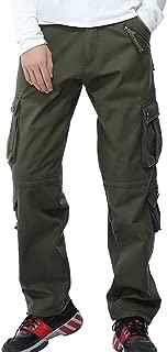 DONSON Men's Thicke Cargo Pants Fleece Lined Outdoor Work Pants