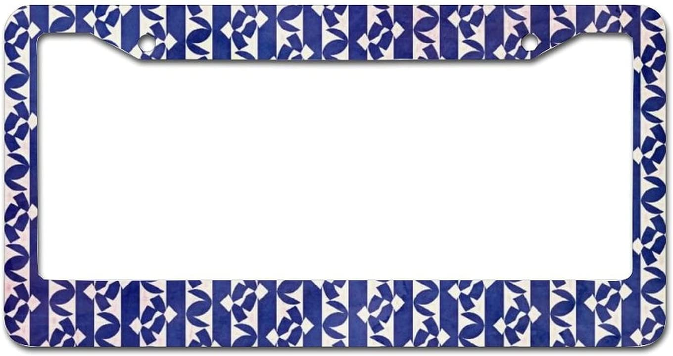 Challenge the lowest price Dark Blue Phoenix Mall Line Pattern Metal License Frame Cover Plate Car f Tag