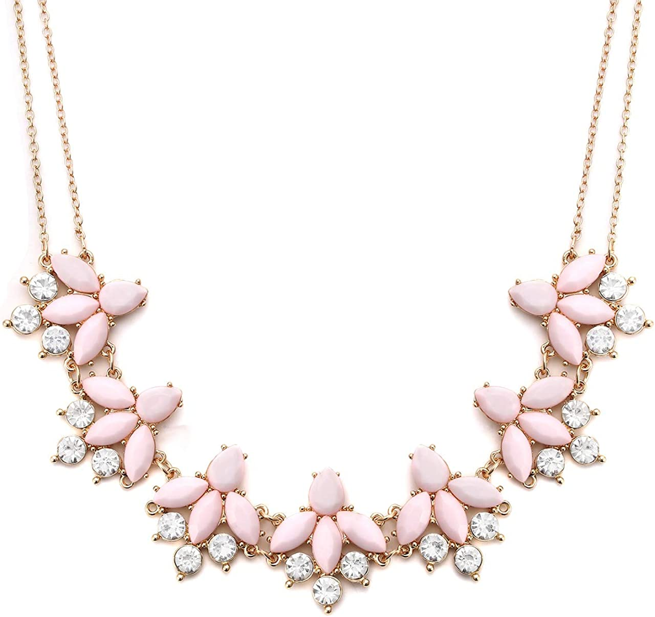 Crystal Flower Collar Necklace Sale SALE% OFF for Women wholesale Rhinestone Chunky Flora