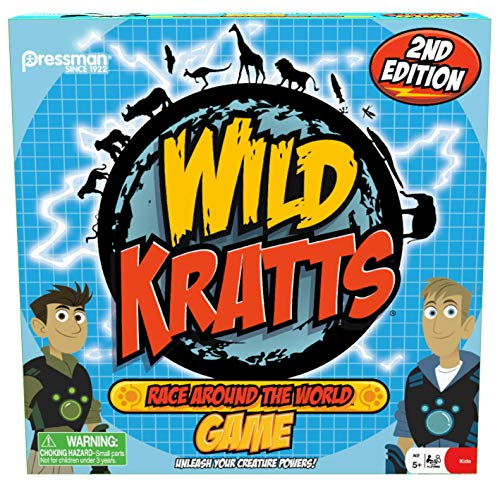 Wild Kratts Race Around the World Board Game by Pressman Toys