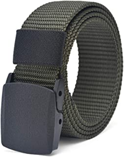Nylon Military Tactical Women Men Belt Webbing Canvas Outdoor Web Belt with Plastic Buckle