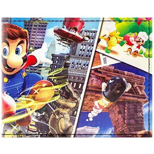 Super Mario Odyssey Plusieurs Mondes Noir Portefeuille
