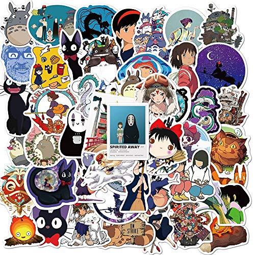 Lindo kawaii Vsco Chihiro My Neighbor Totoro Anime Sticker Hogar Pared Maleta Graffiti Pegatina Portátil Niños Juguetes 50pcs
