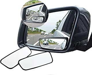 Blind Spot Mirror, 360° Rotate Adjustabe Wide Angle Rear View Mirror HD Glass Convex Side View Mirror (1 Pair)