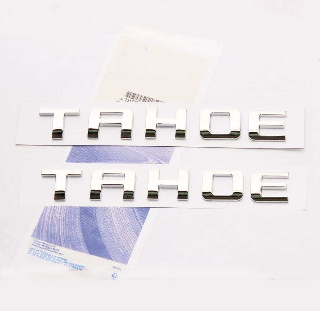 Yoaoo 2x OEM Chrome Tahoe Nameplate f Emblems Popular brand in the world Letter Badge Deluxe Alloy
