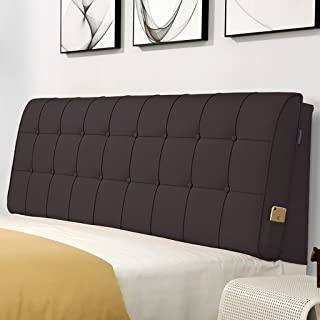 GDHSALE Lit Dossier Coussin Lit Coussin Chevet avecTête de lit en Cuir de Grand Oreiller Souple Support Lombaire détachabl...