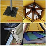 TentHome Waterproof Double Layers Teepee Tent Outdoor Camping 3.1M/10ft Family Tent Pyramids Indian Tent With fixed… 4