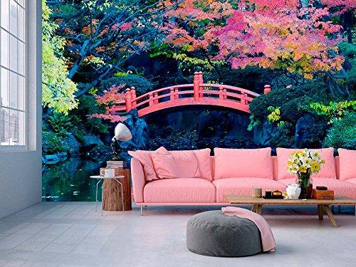 Fotomural Vinilo Pared Puente japones   Varias Medidas 350x250cm   Ideal para la decoración de comedores, Salones   Motivos Paisajisticos   Urbes, Naturaleza, Arte   Multicolor   Diseño Elegante