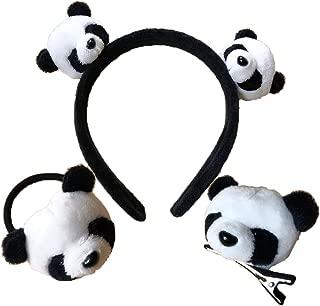 Panda Headband Fur Hair Clip Pin Stretch Hair Tie Hair Accessories for Girls
