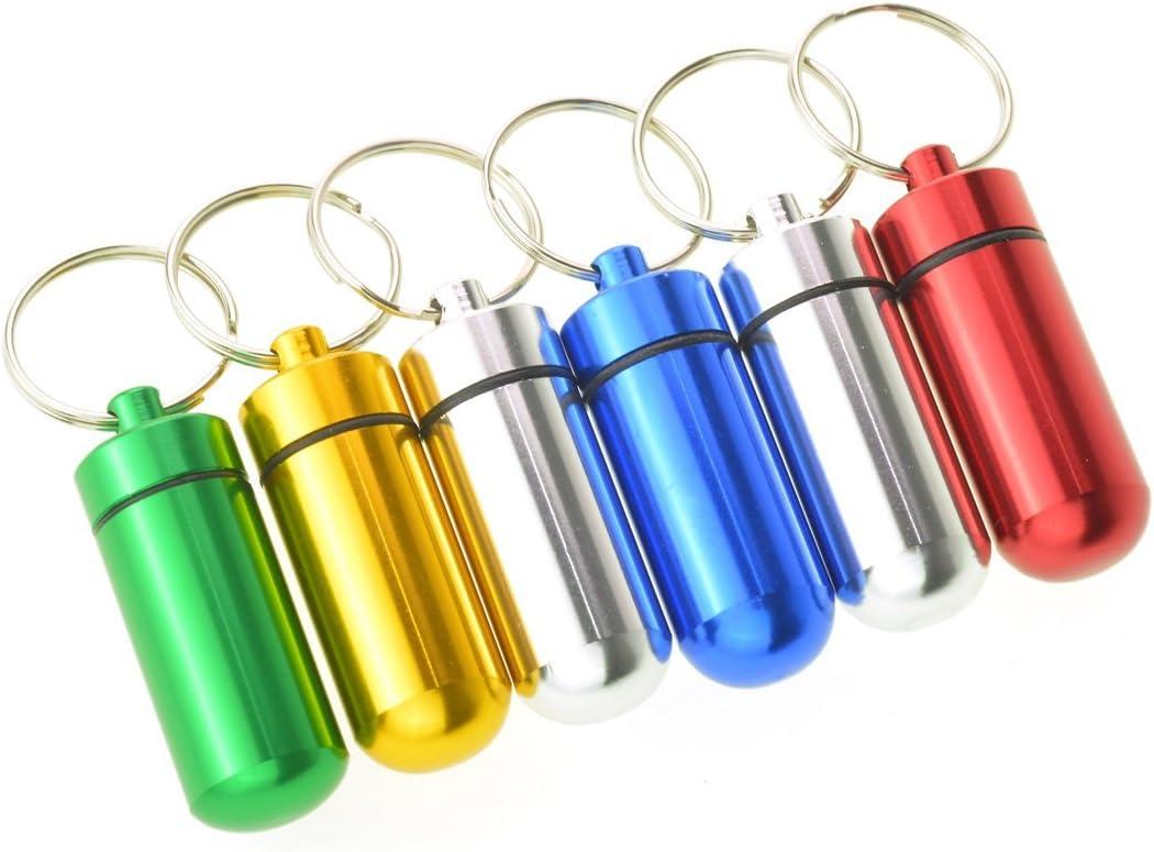 Dxhycc Shipping included 6pcs Waterproof Aluminum Pill Drug Cache Case Bottle Box Ultra-Cheap Deals