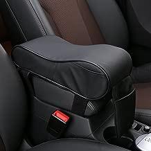 SHAKAR Universal Car Center Console Armrest Cushion Cover Pad Memory Foam with Microfiber Leather